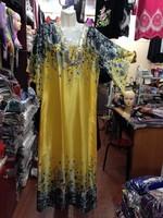 2010 silk with big black edge sleeve muslim abaya ,kaftan/robe AY04