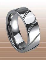 Wholesale New Guaranteed 100% 8MM Man's Tungsten Carbide Slash Wedding Band Ring + free shipping