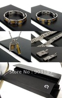 1 Set New Guaranteed 100% Couples anti-fatigue 4 suit Pendants & bracelet +free shipping