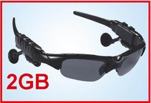 2GB Sport Sunglass Black Headset Sport MP3 Player Sun glasses with folderable UV protect l