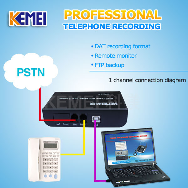 USB phone recording box 1ch log telephone call voice recordings for office use(China (Mainland))