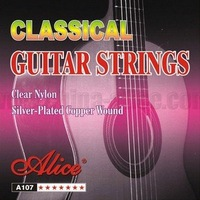 6 sets Classical Guitar Strings, Normal, Clear Nylon, Silver Plated Copper Wound, A107