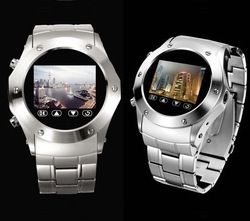 "Best Selling W968 Steel Watch Phone with 1.3MP camera,1.3""Touch LCD,Bluetooth and MP4,FM Radio Function(China (Mainland))"