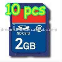 10PCS/LOT SECURE DIGITAL 2GB SD MEMORY CARD 2 GB 2G Full Capacity Free Shipping