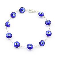 Turkish blue evil eye bracelet luckey eye Nazar Kabbalah Jewish Fashion Jewelry Women Man