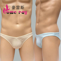 B302.Free Shipping Men's underwear sexy briefs, transparent, polychromatic ,ultra thin, soft,fast absorbent, breathable