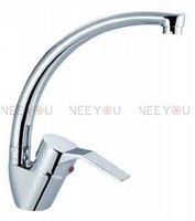 Free shipping NEW Modern Single handle  Kitchen Mixing Tap Sink Faucet Chrome 01281  [Five-year quality guarantee]
