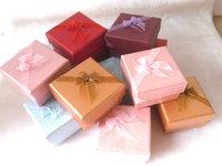 Violet Box. Jewelry Box.Ring Box. Earrings Box. Cardborad box. Free Shipping