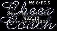 ITEM# WSP113 clear crystal rhinestone transfer motif Cheercoach