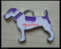 100 pcs/lot Free shipping enamel pendant(dog)