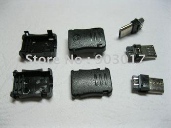 3.0 Micro 5pin USB Male Plug Connector Plasitc Handle 20 pcs per lot hot sale