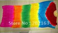 Silk Fan Veils 6 Colors For Belly Dance