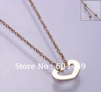 Stainless steel open heart necklace,fashion jewelry
