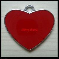 70 pcs/lot Free shipping enamel charm(heart)