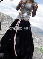 S0001 black  Free shipping high quality women's fashion Bohemia style  Linen long skirt