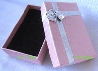 Pink Box. Jewelry Box.Ring Box. Earrings Box. Cardborad box. Free Shipping.