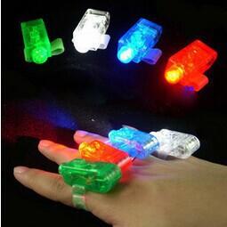 LED Finger Light Magic Finger Ring Lamp Festival Christmas Party LED Lights Kids Novelty Flash Toy 4 Colors(China (Mainland))