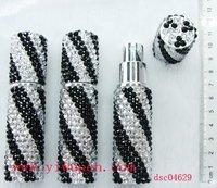Jeweled compact perfume bottle,rhyinestone perfume atomize,crystal perfume sprayer