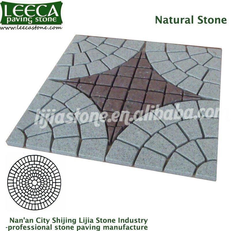 pedras de jardim tipos : pedras de jardim tipos:Circle Paving Stone Patterns