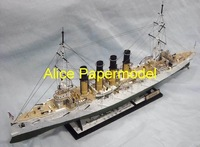 [Alice papermodel] Long 90CM 1:150 Russia wariag Ironclads Battleship warship models