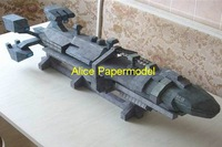 [Alice papermodel] Long 1.2 meter Starship Troopers human Space Battleship spaceship models