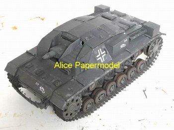 [Alice papermodel] Long 35CM 1:18 World War II German StuG III car tank armored vehicle models