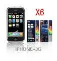 6X Clear Screen Protector Cover fReplacement or iPhone 3GS 3G S