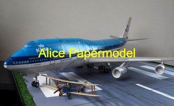 [Alice papermodel] Long 1 meter 1:72 Boeing 747-300 KLM Boeing-747 airliner plane models