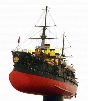 [Alice papermodel] Long 70CM 1:180 Russian Battleship Oslabya boat ironclad army models