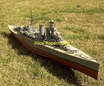 [Alice papermodel] Long 1.3 meter 1:200 World War II the British battleship HMS Hood boat models