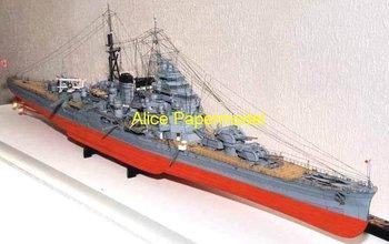[Alice papermodel] Long 1.2 meter 1:150 WWII Japanese battleship heavy cruiser HIJMS Takao models