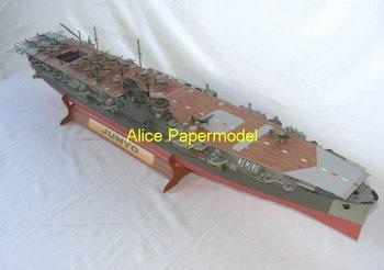 [Alice papermodel] Long 1.2 meter 1:200 World War II Japan aircraft carrier IJN Junyo warship battleship models