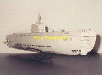 [Alice papermodel] Long 1 meter 1:72 WWII sms U Boat models U-BOOT XXI submarine ship models