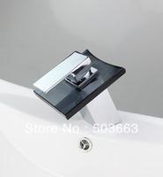 Glass Faucet Waterfall Bathroom Basin Mixer Tap Faucet  b217 Mixer Tap Faucet