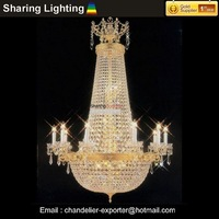 [Huizhuo Lighting]Gold Large Layer W860*H1220mm Crystal Pendant Light