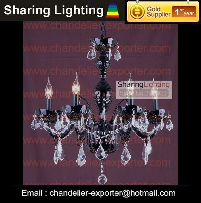 Wholesale factory sell Black crystal candle chandeliers lighting fixture(free shipping)