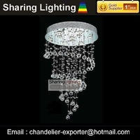 [Huizhuo Lighting] Free Shipping Contemporary W60cm*H90cm Crystal Hanging Pendant Light
