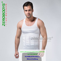 ZEROBODYS Tight Vest / Men Thin Clothing / Body Sculpting Clothing Collection Chest Abdomen White XL