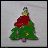 35 pcs/lot Free shipping enamel charm(Christmas tree)