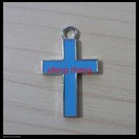100 pcs/lot Free shipping enamel charm(cross)