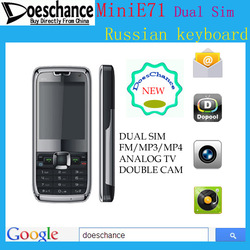 Russian Menu &amp; Russian keyboard mini E71 TV Mobile Phone (Russian Only)(China (Mainland))