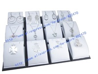 Free Shipping Wholesale  Lot Of Leather  Pendant  Necklace Earring  Jewelry Display  Stand  Showcase Holder