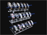 Wholesale Free Shipping Acrylic Jewelry Display Stand For 18 Bracelets Watches Holder Showcase