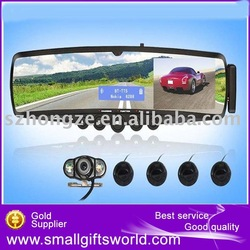 3.5''TFT Monitor Rearview Mirror with Wireless Parking Camera Bluetooth Car Kit +TTS +Free Shipping(China (Mainland))