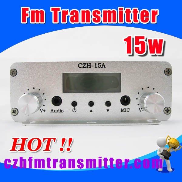 czh-15A 15W FM stereo PLL broadcast transmitter GP antenna + Powersupply(China (Mainland))