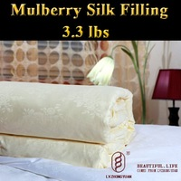 Guaranteed 100% Genuine New luxurious 100% Mulberry Silk Comforter Filling 1.5kg,silk quilt, bedding set