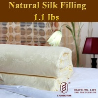 Guaranteed 100% Genuine New luxurious 100% Tussah Silk Comforter Filling 0.5kg,silk quilt, bedding set