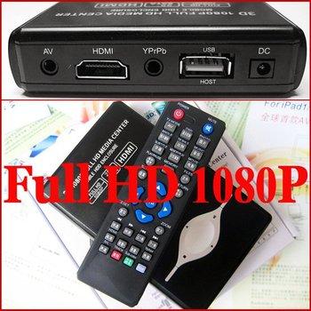 "Wholesale 1080P 2.5"" SATA HDD Media Player RM MKV H.264 SD USB HD - HDMI cable - 20 pcs per lot"