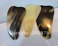 L003  Tibet natural yak horn Guasha treatment,Skin scraping home treatment tools,Best offer mix order