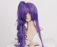 36inch VOCALOID GACKPOID long PURPLE CURL ponytail cosplay wig party wigs Halloween wig